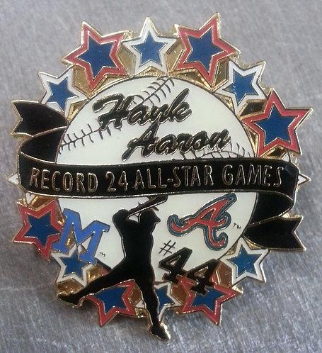 Hank Aaron 24 All-Star Games Lapel Pin