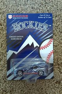 Colorado Rockies #1 of 3 Dodge VIPER Die Cast Car