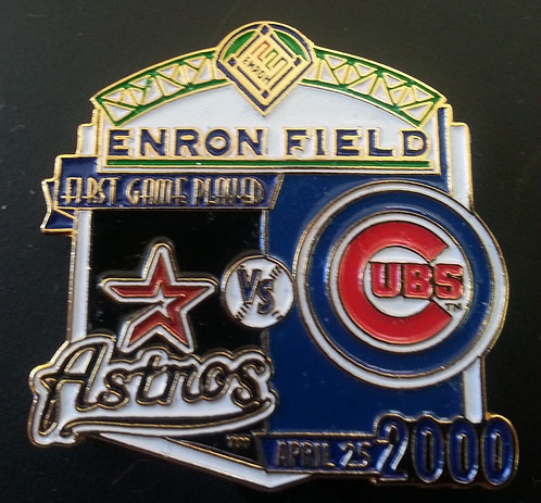 CUBS First Game Played ENRON FIELD Lapel Pin