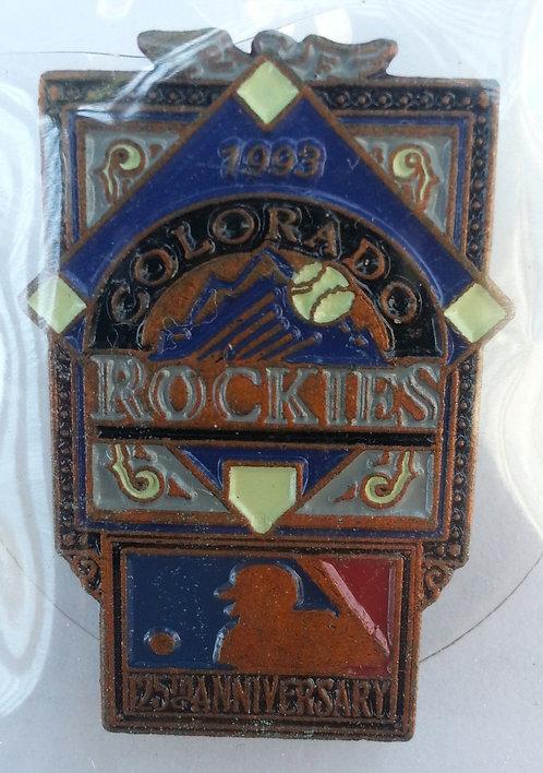 COLORADO ROCKIES 125th Anniversary of MLB Pin