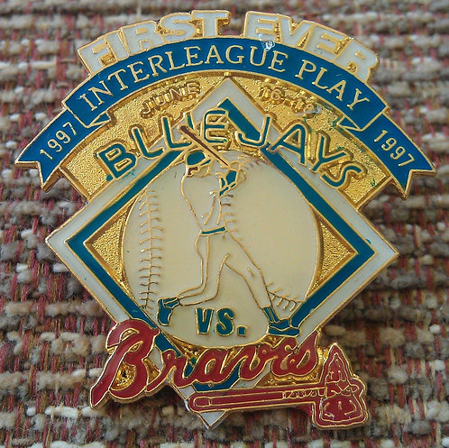 BRAVES vs BLUE JAYS First INTERLEAGUE Game Pin
