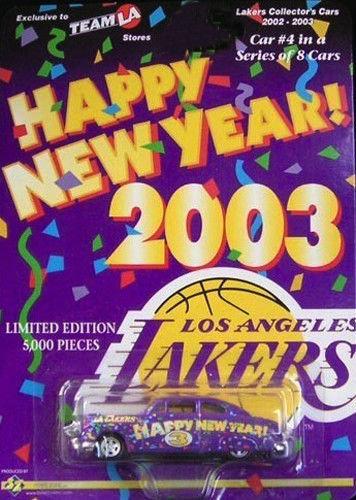 Los Angeles LAKERS #4 of 8 - 2003 Die Cast Car