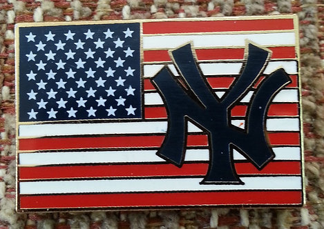 New York Yankees with UNITED STATES FLAG Lapel Pin
