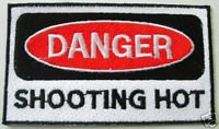 PAINTBALL DANGER SHOOTING HOT Embroidered Patch