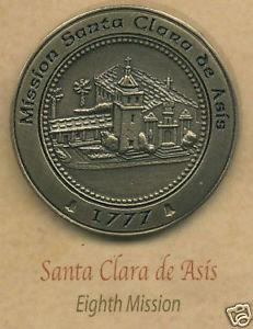 SANTA CLARA de ASIS Mission Lapel Pin #8 of 21