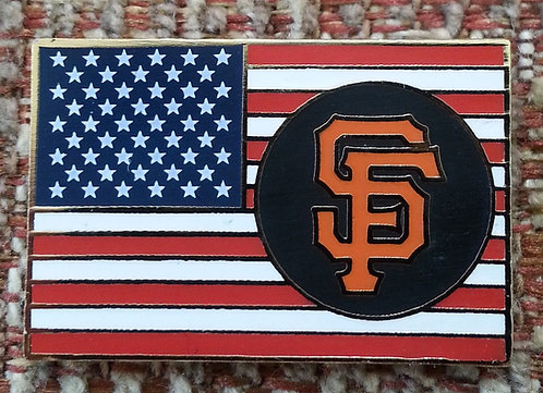 SAN FRANCISCO GIANTS SF UNITED STATES FLAG PIN