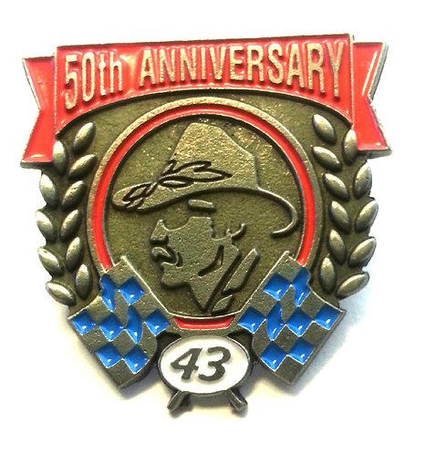 RICHARD PETTY #43 50th Anniversary LAPEL PIN