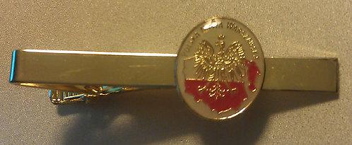POLAND WARSAW MISSION Tie Bar Clip