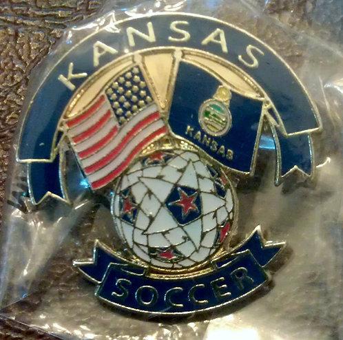 National Soccer Hall Of Fame State of KANSAS PIN