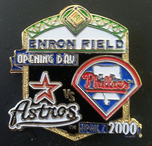 ASTROS vs PHILLIES ENRON FIELD Opening Day Pin