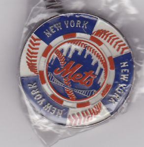 New York METS POKER CHIP STYLE Lapel Pin