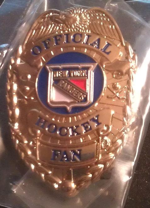 NEW YORK RANGERS OFFICIAL HOCKEY FAN BADGE PIN