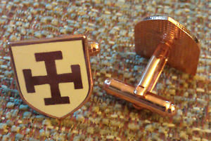 TEUTONIC Knights Order Shield Cross CUFF LINKS