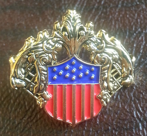 White House Treaty Room Mirror Shield Lapel Pin
