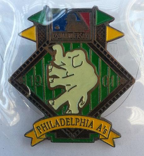 PHILADELPHIA A's 125th Anniversary of MLB Pin