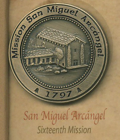 SAN MIGUEL ARCANGEL #16 of 21 Mission Lapel Pin