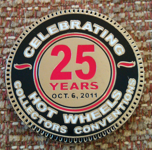 Hot Wheels 2011 25th Collector's Convention COIN