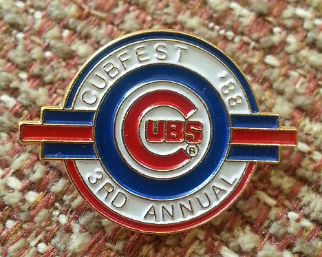 CUBS 3rd Annual CUBFEST Convention 1988 LAPEL PIN