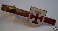 TEUTONIC Knights Order Shield Cross TIE BAR