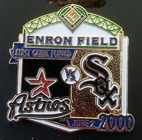 WHITE SOX First Game Played ENRON FIELD Lapel Pin