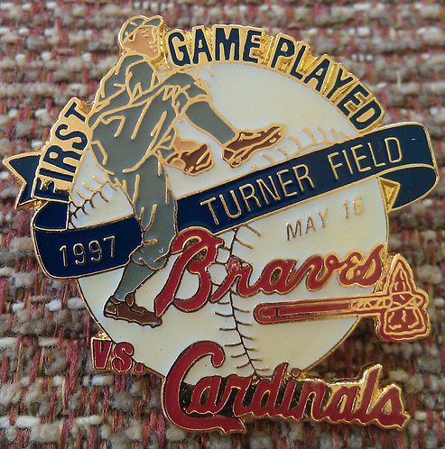 CARDINALS First Game Played at TURNER FIELD PIN