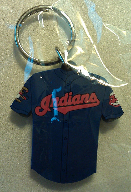 CLEVELAND INDIANS Rubber 2-SIDED JERSEY KEY RING