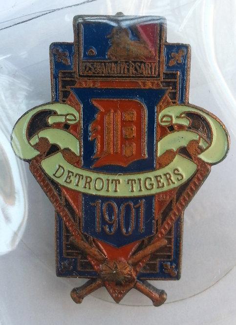 DETROIT TIGERS 125th Anniversary of MLB LAPEL PIN