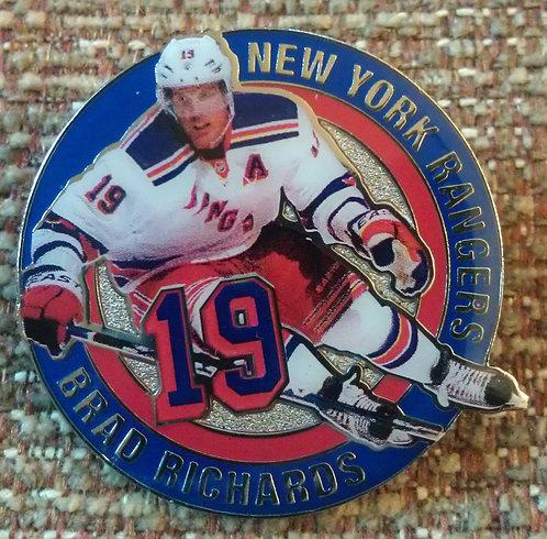 NEW YORK RANGERS BRAD RICHARDS #19 Lapel Pin