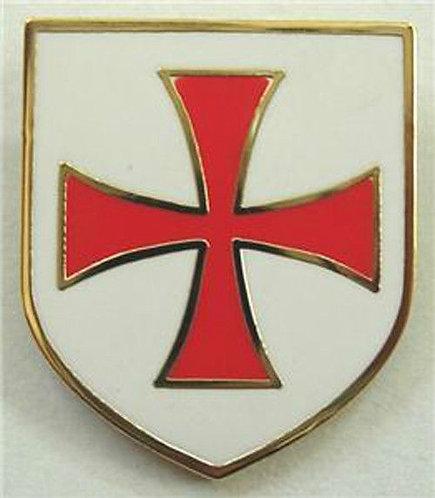Templar Knights Order Shield Cross Lapel Pin