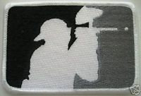 PAINTBALL Black, White & Gray LOGO Shoulder PATCH