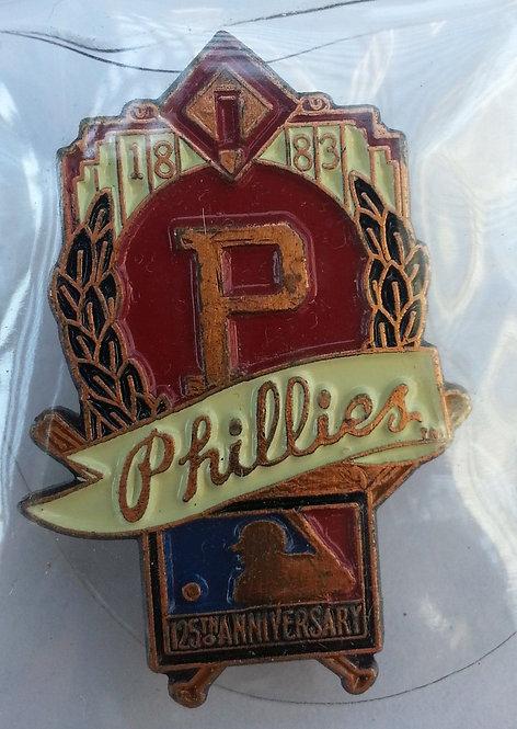 PHILADELPHIA PHILLIES 125th Anniversary of MLB Pin