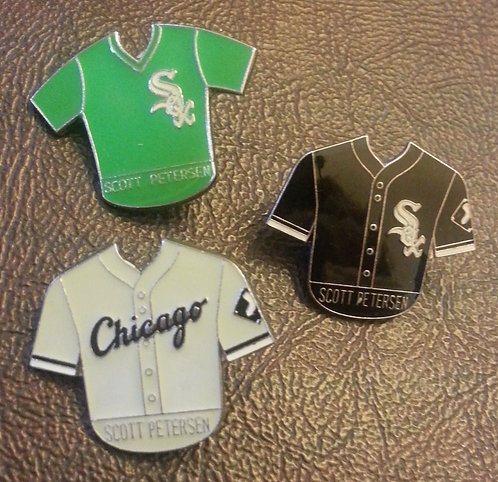 SCOTT PETERSON 1994 WHITE SOX JERSEY LAPEL PINS