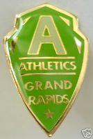 Negro League 1920 Grand Rapids ATHLETICS Logo Pin