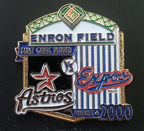 HOUSTON ASTROS vs MONTREAL EXPOS ENRON Pin