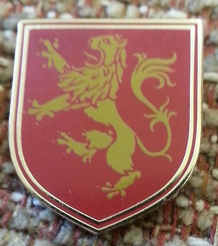 LION RAMPANT HERALDIC RED Lapel Pin