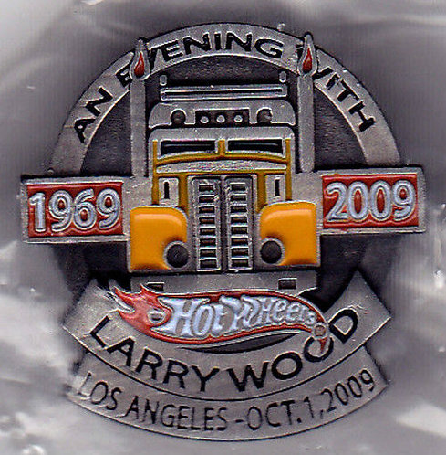 Hot Wheels 2009 Larry Wood 1969-2009 Dinner Pin