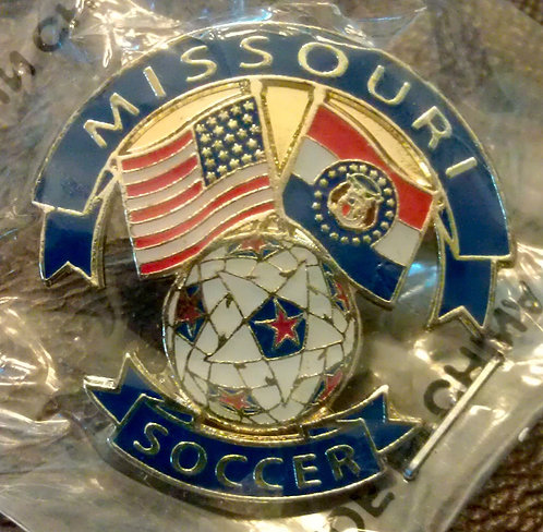 National Soccer Hall Of Fame State of MISSOURI PIN