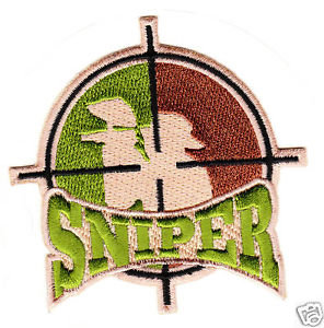 PAINTBALL CAMO ** SNIPER ** Embroidered Patch