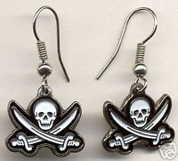 PIRATE John Rackam (Calico Jack) Earrings