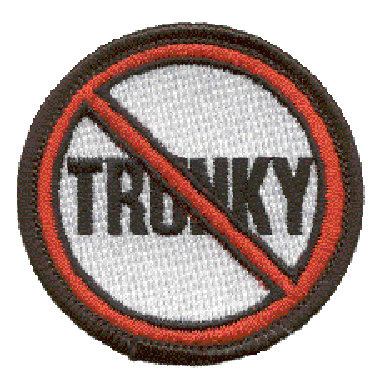 CM-4650 - Not Trunky Embroidered Stick-On Patch