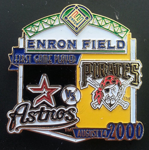 IRATES First Game Played ENRON FIELD Lapel Pin
