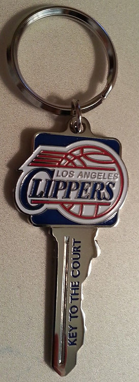 """Los Angeles CLIPPERS """"KEY to the COURT"""" Key Ring"""