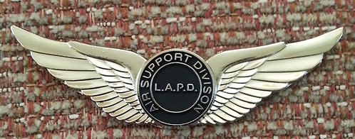 "LAPD ""Air Support""  2-1/2"" WINGS Lapel Pin"