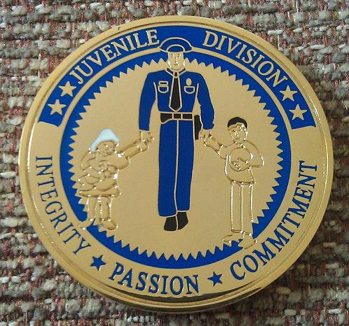 LAPD JUVENILE DIVISION Challenge Coin