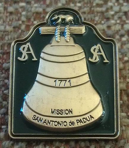 SAN ANTONIO de PADUA Mission BELL Pin (Green)