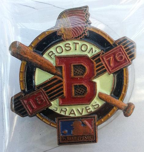 BOSTON BRAVES  1876 LOGO / MLB 125TH LAPEL PIN