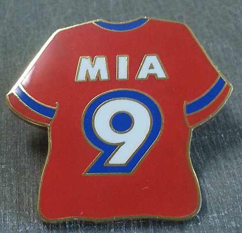 MIA HAMM #9 WOMEN'S WORLD CUP 1999 RED JERSEY PIN