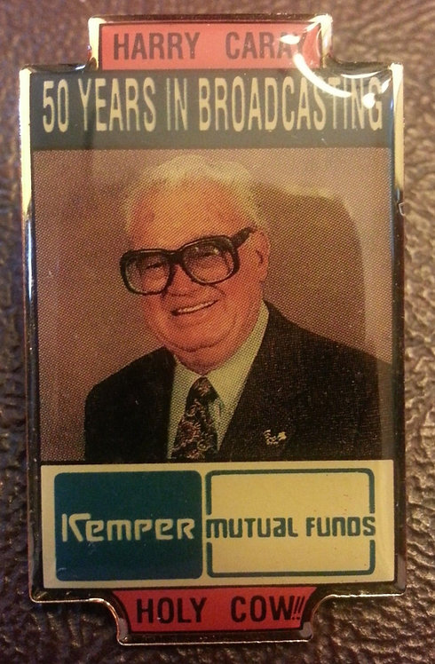 HARRY CARAY CUBS 50 YEARS BROADCASTING Lapel Pin