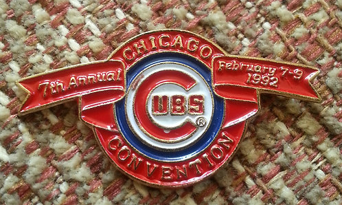CHICAGO CUBS 7th Annual Convention 1992 LAPEL PIN