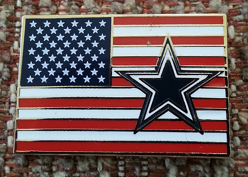 Dallas Cowboys with UNITED STATES FLAG Lapel Pin